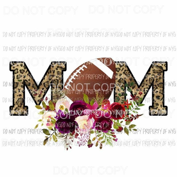 MOM football leopard flowers Sublimation transfers Heat Transfer