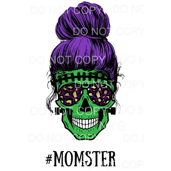 Momster Skull Zombie Halloween MOM Monster Sublimation