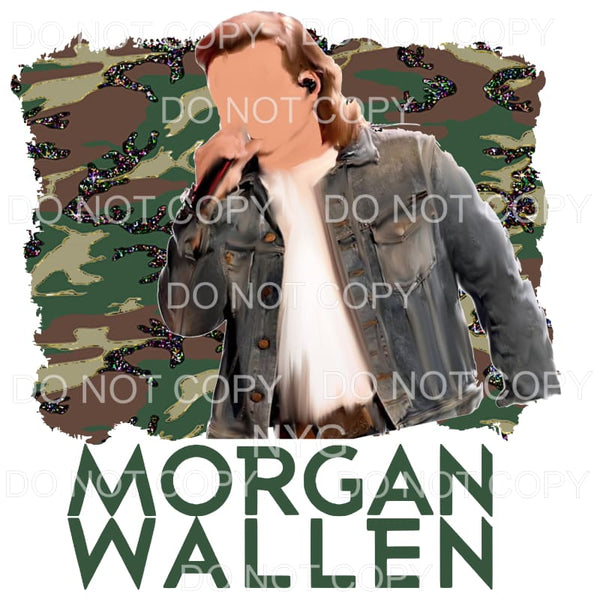 Morgan Wallen CAMO # 3 Sublimation transfer - Heat Transfer