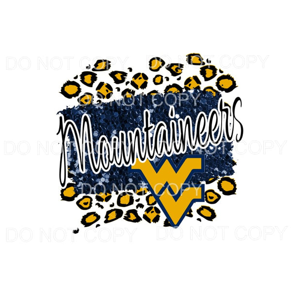 Mountaineers WV Blue and Gold Leopard # 3 Sublimation