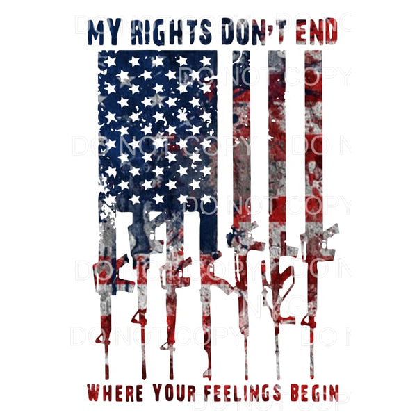 MY rights Flag Guns 2nd Amendment # 2 Sublimation transfers