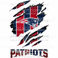 New England Patriots ripped design Sublimation transfers Heat Transfer