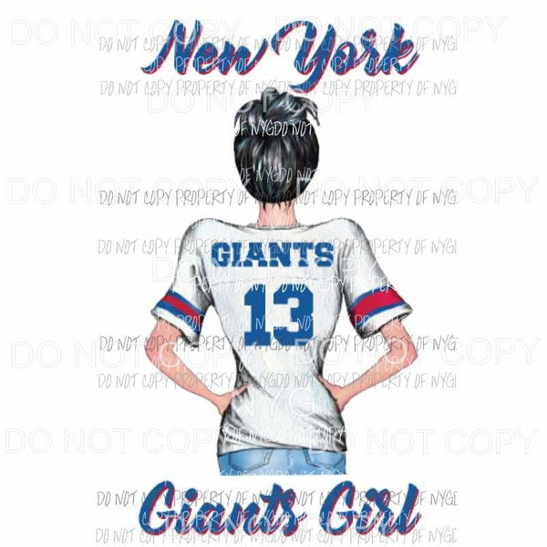 New York Giants Girl Sublimation transfers Heat Transfer