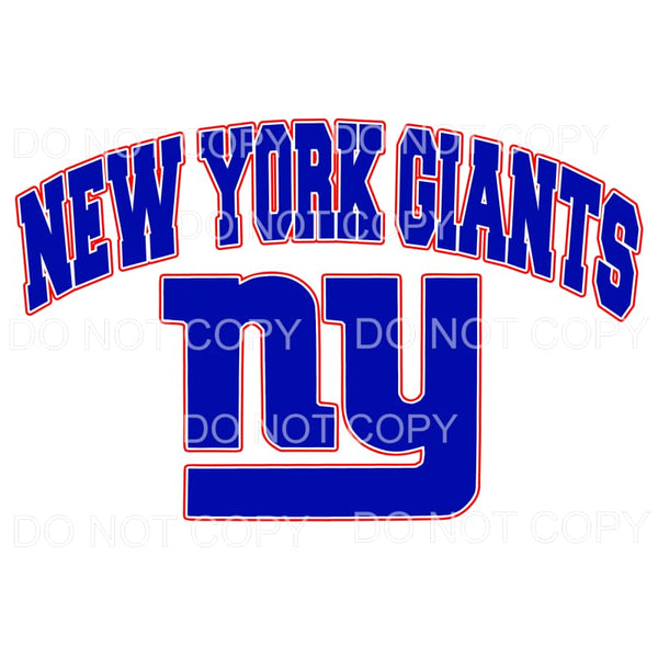New York Giants NY Football Sublimation transfers - Heat
