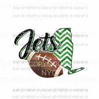 New York Jets football chevron state Sublimation transfers Heat Transfer