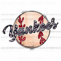 New York Yankees Baseball # 2 Sublimation transfers Heat Transfer