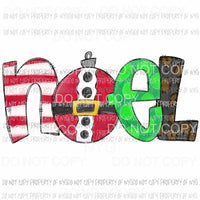 NOEL stacked letters multi prints # 1 Sublimation transfers Heat Transfer
