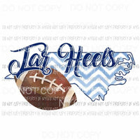 North Carolina Tar Heels football chevron state Sublimation transfers Heat Transfer