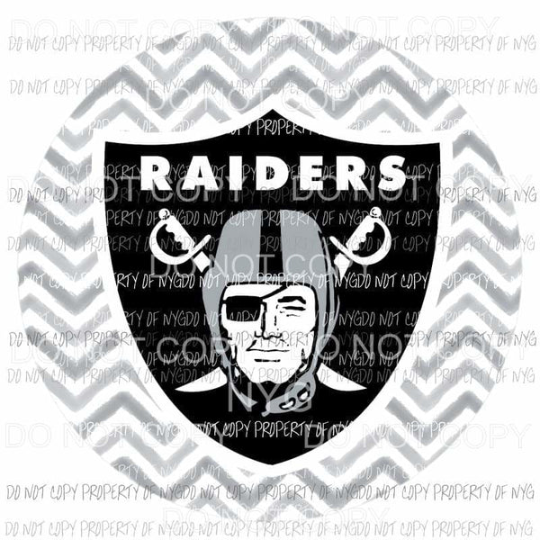 Oakland Raiders chevron circle Sublimation transfers Heat Transfer