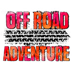 Off Road Adventure Tire Tracks Sublimation transfers - Heat