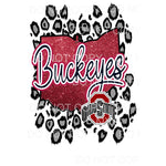 Ohio State Buckeyes Leopard #2 Sublimation transfers - Heat