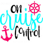 On Cruise Control Pink Anchor Ship Wheel Sublimation