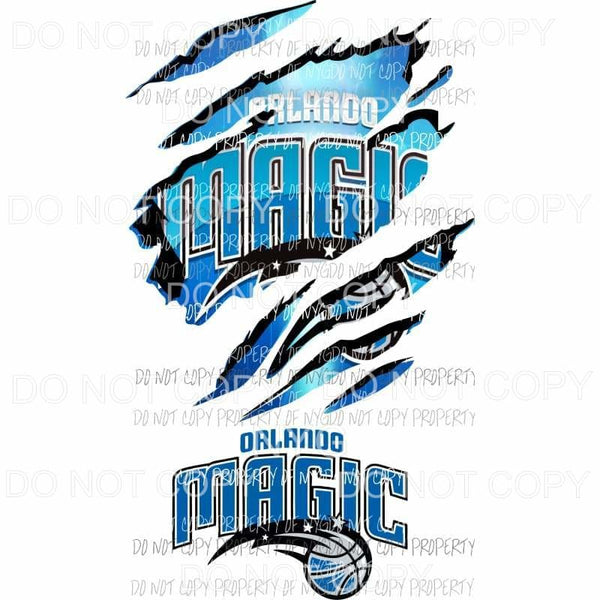 Orlando Magic ripped design Sublimation transfers Heat Transfer
