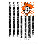 OSU Flag cowboys Oklahoma Sublimation transfers - Heat