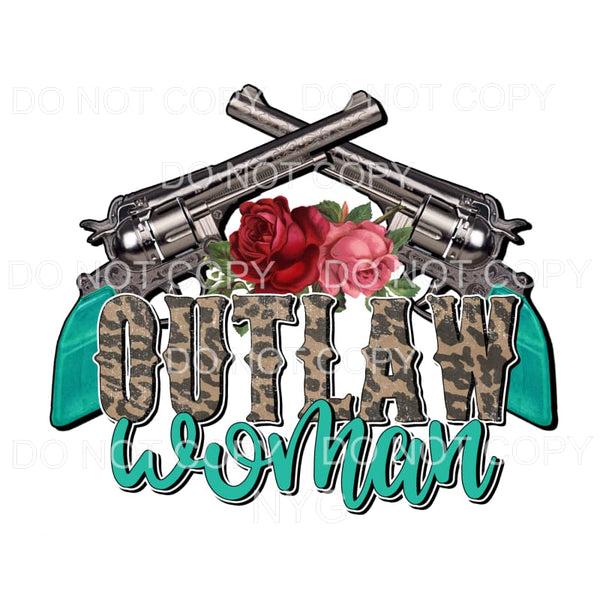 Outlaw Woman leopard Sublimation transfers - Heat Transfer
