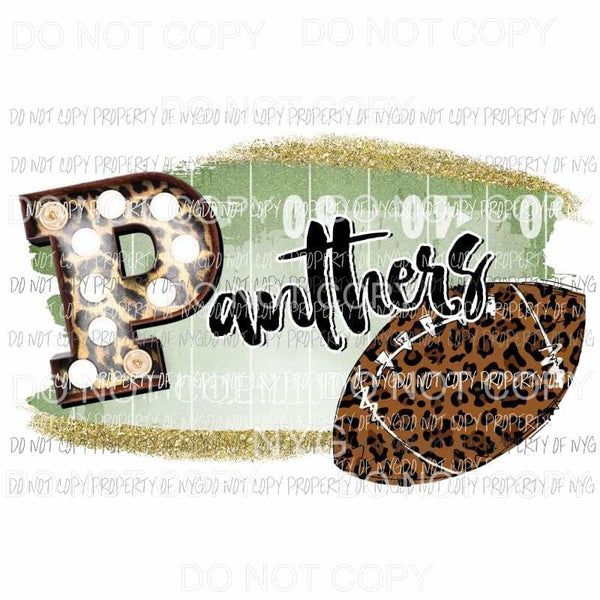 Panthers football field leopard Sublimation transfers Heat Transfer
