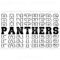 Panthers mirrored Sublimation transfers Heat Transfer