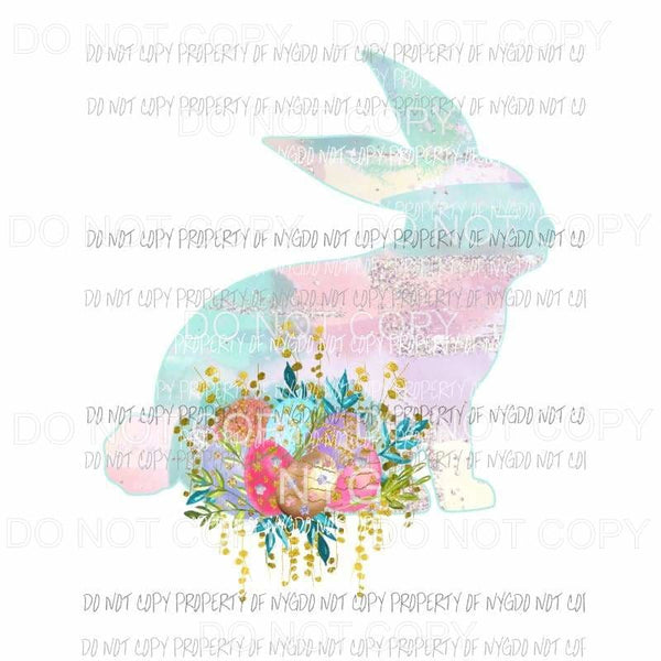 Pastel Bunny flowers Sublimation transfers Heat Transfer