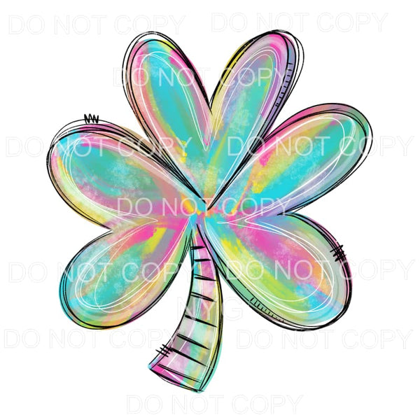 Pastel Colorful Shamrock Sublimation transfers - Heat