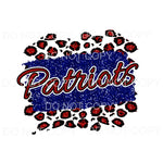 Patriots red and blue leopard Sublimation transfers - Heat