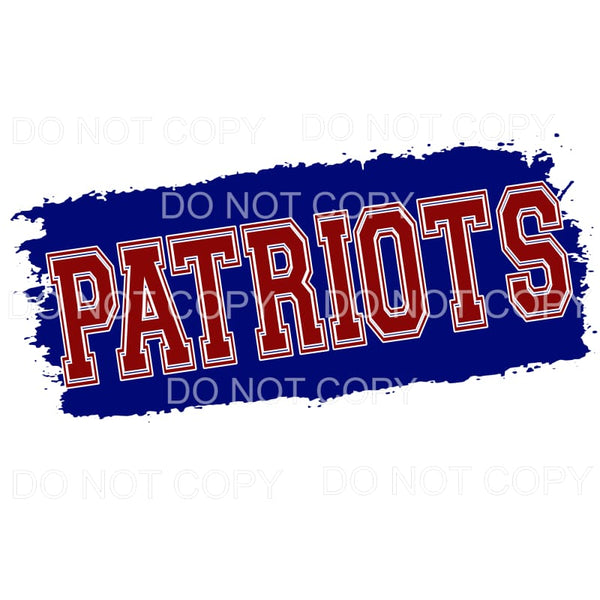 Patriots red and blue PAINT Sublimation transfers - Heat