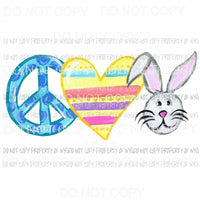 Peace Love Easter #3 Sublimation transfers Heat Transfer