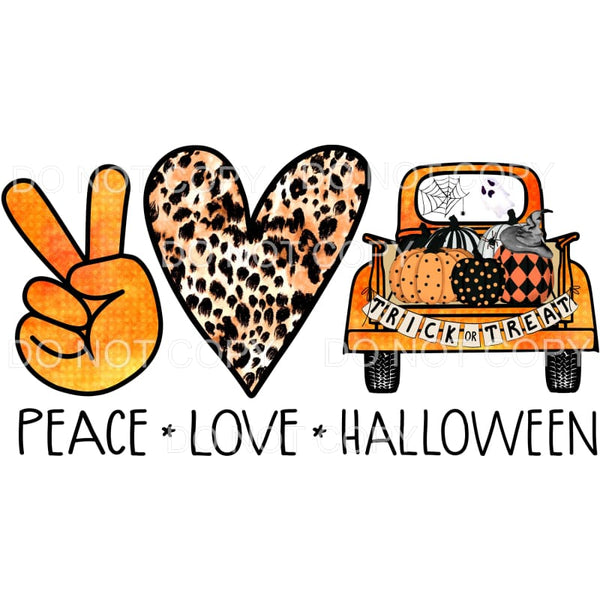 peace love Halloween Truck Sublimation transfers - Heat