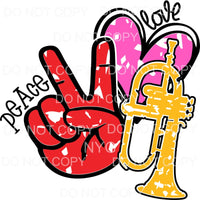 Peace Love Horn Sublimation transfers - Heat Transfer