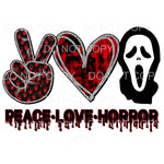 Peace Love Horror #6 Ghostface Scream Sublimation transfers