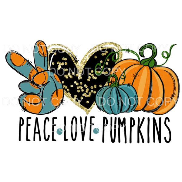 Peace Love Pumpkins # 1 Sublimation transfers - Heat