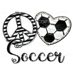 Peace Love Soccer Heart Sublimation transfers - Heat