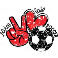 Peace Love Soccer Sublimation transfers - Heat Transfer