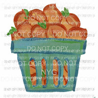Peach Basket Sublimation transfers Heat Transfer