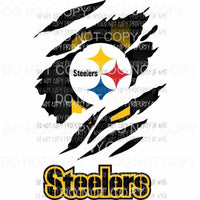 Pittsburgh Steelers ripped design Sublimation transfers Heat Transfer