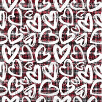 Plaid Hearts Sheet #6 Sublimation transfers 13 x 9 inches Heat Transfer