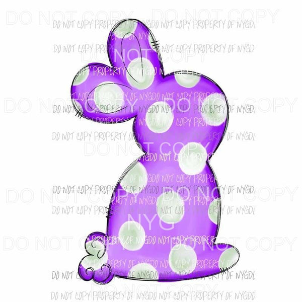 Purple Polka Dot Bunny Sublimation transfers Heat Transfer