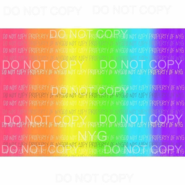 Rainbow Sheet #1 Sublimation transfers 13 x 9 inches Heat Transfer