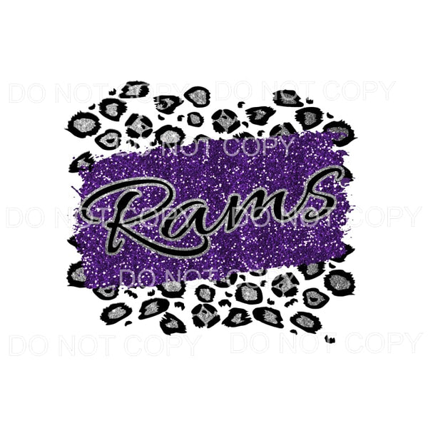 Rams Leopard Custom Purple and silver Sublimation transfers