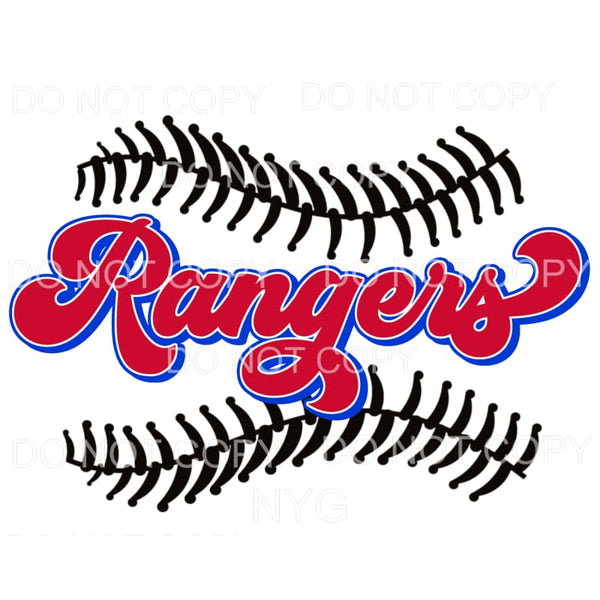 Rangers Baseball Texas Sublimation transfers - Heat Transfer