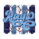 Rays Baseball Blue Brushstrokes Tampa Bay Sublimation