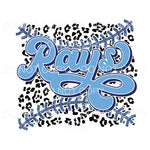 Rays Baseball Leopard Tampa Bay Sublimation transfers - Heat
