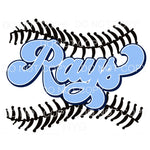 Rays Baseball Tampa Bay Sublimation transfers - Heat