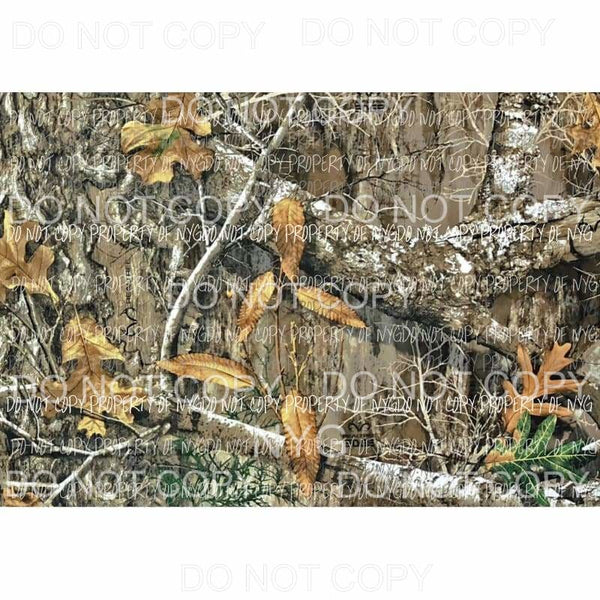 Realtree Camo Sheet #5 Sublimation transfers 13 x 9 inches Heat Transfer
