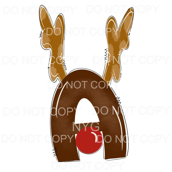 Reindeer Alphabet Letters all letters are in drop down menu