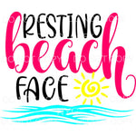 Resting Beach Face Sun Waves Sublimation transfers - Heat