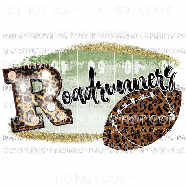 Roadrunners football field leopard Sublimation transfers Heat Transfer