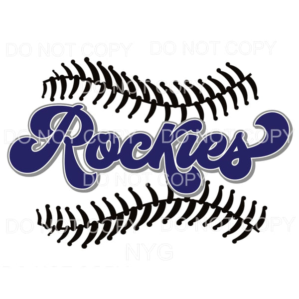 Rockies Baseball Colorado Sublimation transfers - Heat