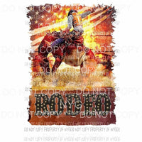 Rodeo Cowboy # 9 rodeo Sublimation transfers Heat Transfer