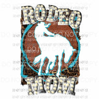 Rodeo Mom marquee horse silhouette leopard frame Sublimation transfers Heat Transfer