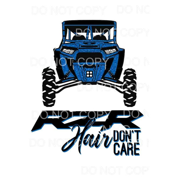 rzr hair don't car blue razor Sublimation transfers - Heat